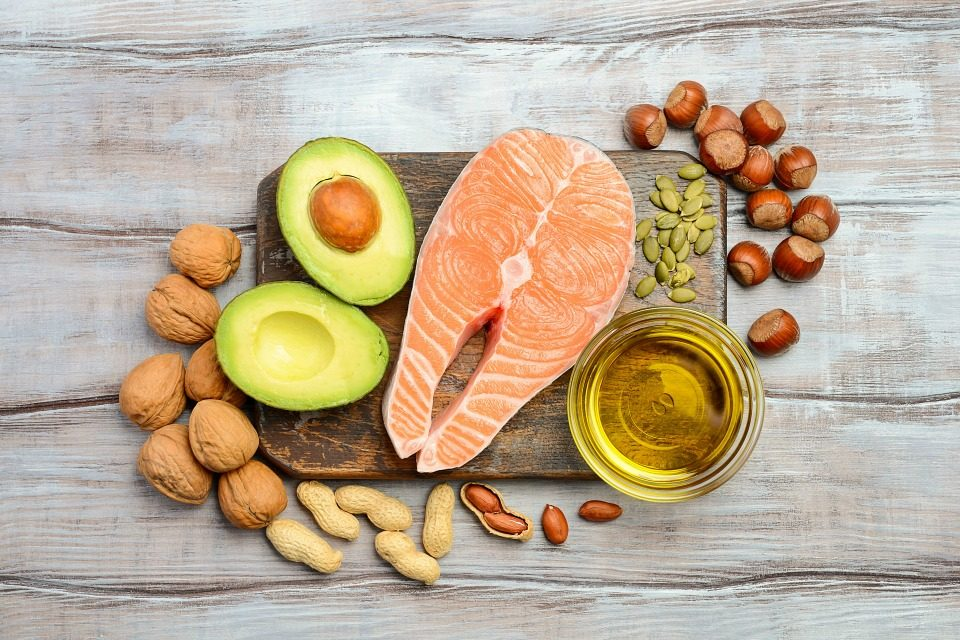 fatty food image with healthy fats