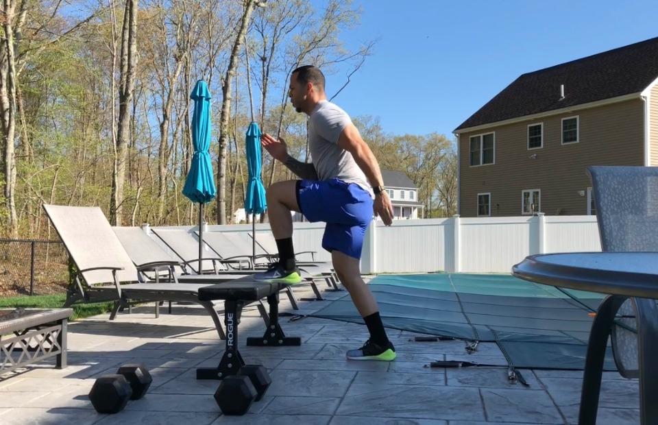 fitness man doing intense workout