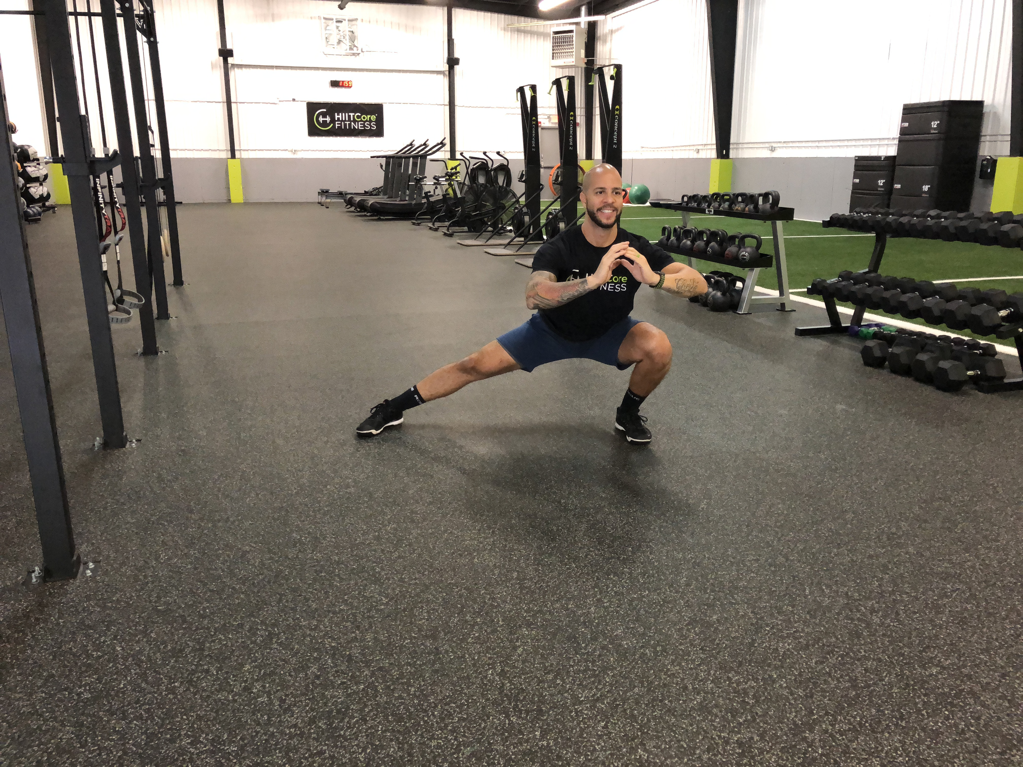 lateral lunge stretch